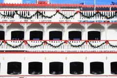 Christmas Ferry Royalty Free Stock Photos