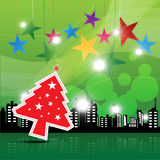 Christmas festival background. In the city Royalty Free Stock Photography