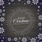 Christmas festival background with snowflakes. Frame Royalty Free Stock Photo