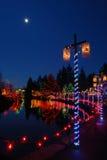 christmas festival lights στοκ εικόνες