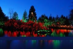 christmas festival lights Στοκ Εικόνα