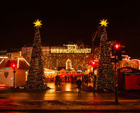 Christmas Festival market in Berlin Stock Photography