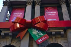 Christmas Festival and Merry Christmas banners stock photography