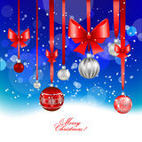 Christmas festive  background. With balls Royalty Free Stock Photography