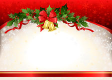 Christmas festive  background with bells. Space for text Royalty Free Stock Photo