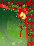 Christmas festive background with bells. Space for text Royalty Free Stock Image