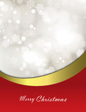 Christmas festive background with bokeh. And red smooth lines Stock Photo