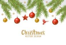 Christmas festive background border design Royalty Free Stock Photos