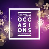Christmas festive background. Border design with snowflakes. Vector illustration Stock Photography