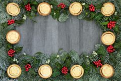 Christmas Festive Background border Royalty Free Stock Images