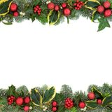 Christmas Festive Background Border Royalty Free Stock Photos
