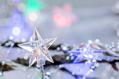 Christmas festive background with star lights Royalty Free Stock Images