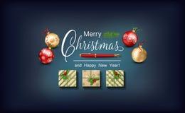 Christmas Festive Background Stock Photo