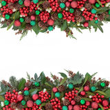 Christmas Festive Border Stock Images