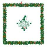 Christmas festive candy wreath frame Royalty Free Stock Photos