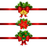 Christmas festive decoration from christmas tree branches Stock Photo