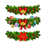 Christmas festive decoration from christmas tree branches Royalty Free Stock Photography