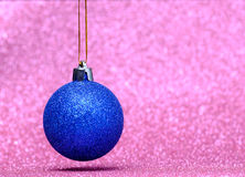 Christmas festive decorations on colorful background Royalty Free Stock Images