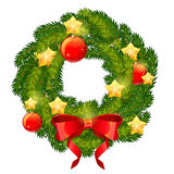 Christmas festive decorative wreath with traditional winter elem Royalty Free Stock Image