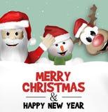 Christmas Festive Design Stock Images