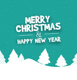 Christmas Festive Design. Graphic colorful illustration Royalty Free Stock Photos
