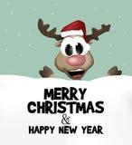 Christmas Festive Design. Graphic colorful illustration Royalty Free Stock Photo