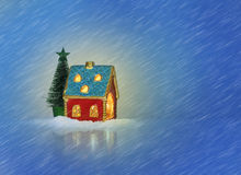Christmas festive light in house Royalty Free Stock Image