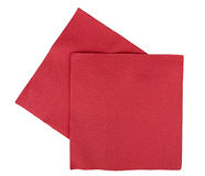 Christmas festive napkins / serviettes, isolated Royalty Free Stock Images