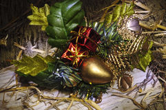 Christmas festive objects still life Stock Image