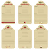 Christmas festive recipe cards Royalty Free Stock Photography