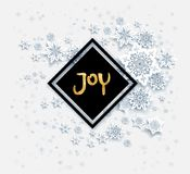 Snow black christmas joy Stock Image