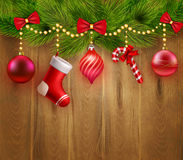 Christmas Festive Template Stock Image