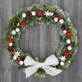 Christmas Festive Wreath Stock Image
