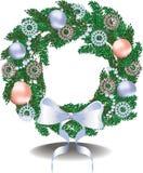 Christmas festive wreath. Vector illustration Stock Image