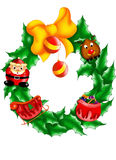 Christmas festoon. Color illustration of a Christmas garland for personalize their own greeting cards Stock Images