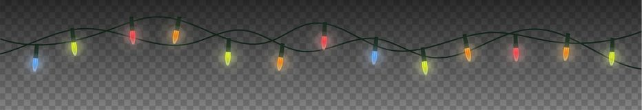 Christmas festoon garland. Festive colorful lights illustration. Christmas festoon garland Royalty Free Stock Photo