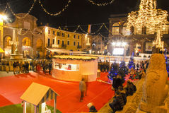 Christmas fever in Italian town Stock Photos
