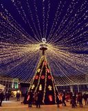 Christmas fever lights december royalty free stock photography