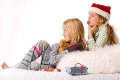 Christmas fight sadness Stock Photo