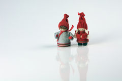 Christmas, figures. Christmas Festive Season Objects in a row, Denmark, Netherlands and Europe ornaments. Christmas decoration figures Stock Images
