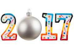 Christmas figures 2017. Numbers new year 2017 isolated on white background Stock Photo