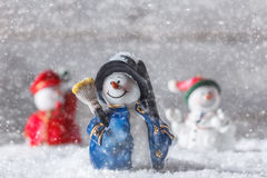 Christmas figurine. Chimney sweep snowman Royalty Free Stock Images