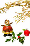 Christmas figurine I. Happy Christmas in the traditional spirit and mood in modern form Stock Image
