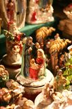 Christmas figurines. Collection of christmas figurines with selective focus Stock Photo