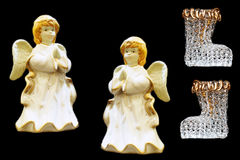 Christmas figurines. Of angels and stockings Stock Image