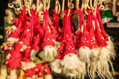 Christmas figurines at Christmas bazaar, Vienna, Austria Stock Images