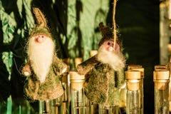 Christmas figurines at Christmas bazaar, Vienna, Austria Royalty Free Stock Photos