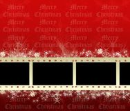 Christmas film frames. Christmas background with film stripes Stock Photography