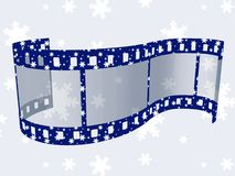 Christmas film stripe. Background with Christmas film stripe Stock Image
