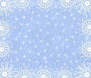 Christmas fine blue background. Christmas fine blue frame of snowflakes Royalty Free Stock Photos
